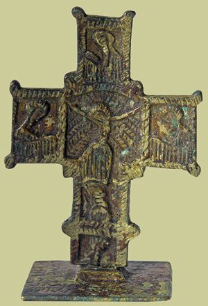 Brass Bread Blessing Cross